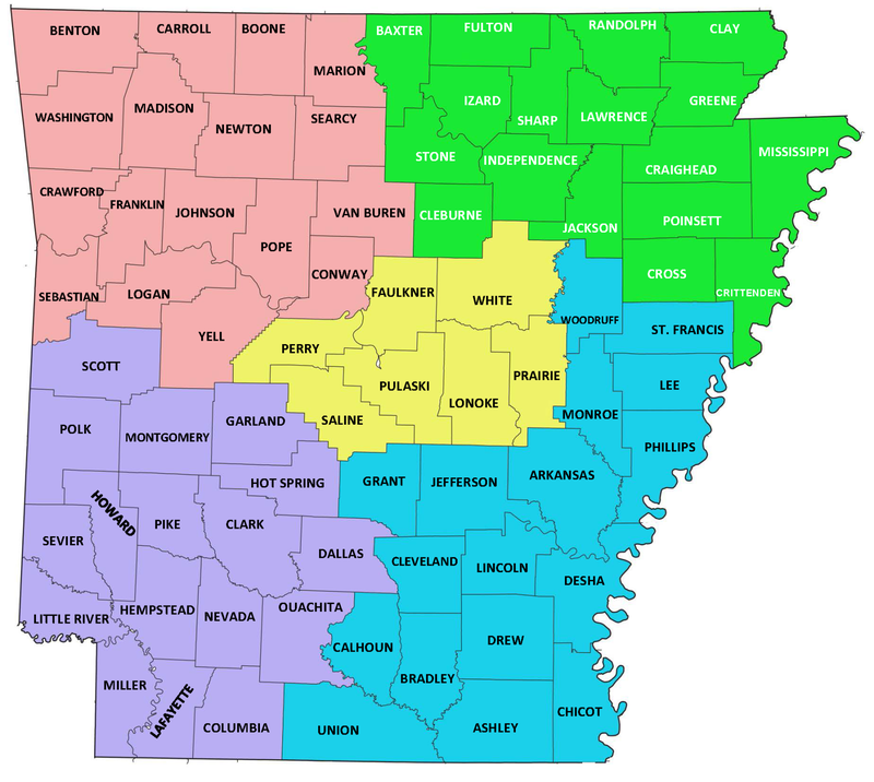 SHIIP Partner Map | Arkansas Insurance Department