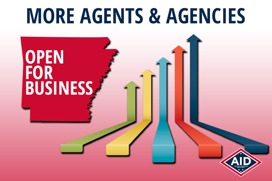 Arkansas Sees Increase in Insurance Agents/Agencies